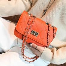 купить Mini Bags for Women Rhombic PU Turn Lock Crossbody Simple Solid Color Clutch Handbags 2019 New Fashion клатч женский по цене 421.4 рублей