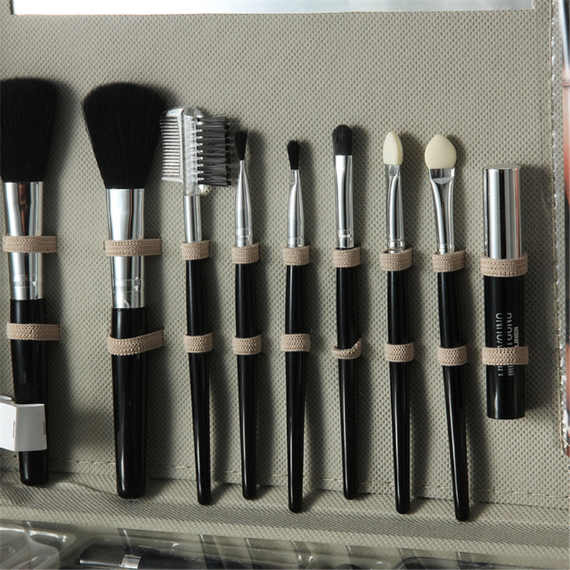 Trousse à outils de maquillage comprenant un fard à paupières mat rouge à lèvres brillant à lèvres fond de teint brosse vernis à ongles Kit de maquillage Kit cosmétique Maquiagem - 4
