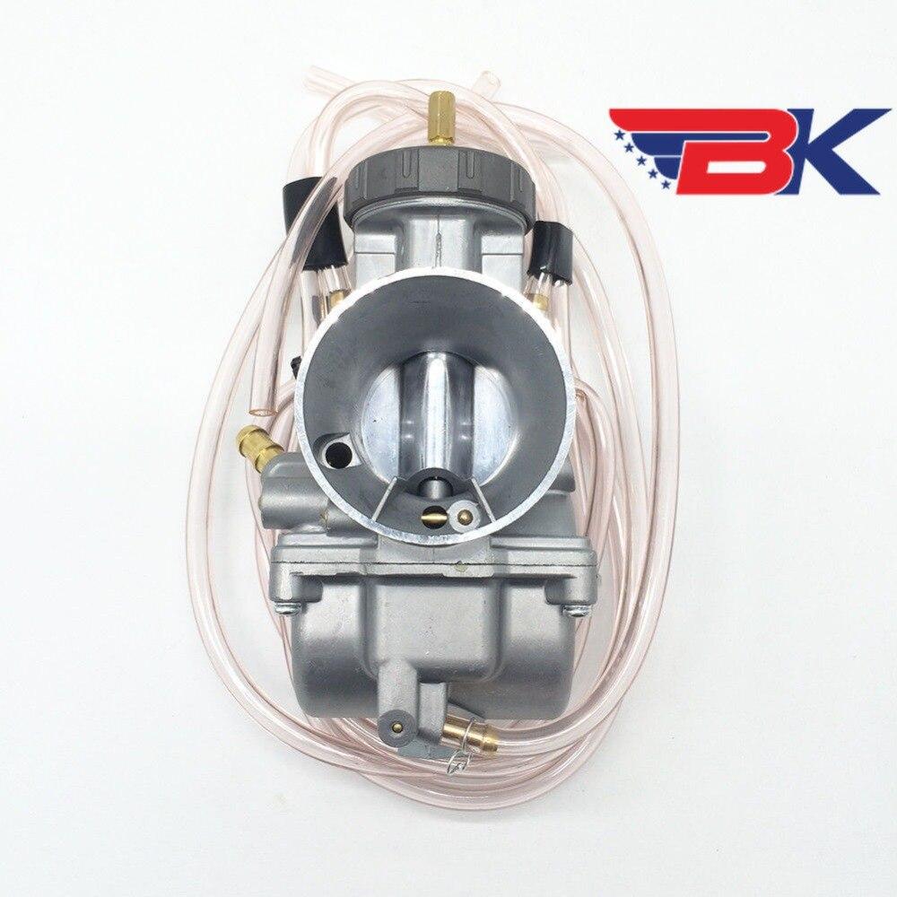 Keihin PWK 38mm 38 Mil Chrome Flat D Slide Carb Carburetor LT500 TRX250R CR500