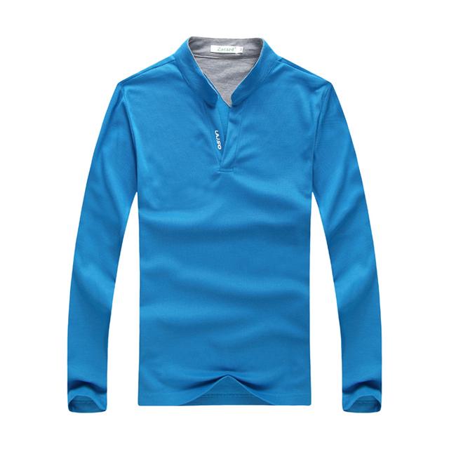 2017 nuevos hombres de la llegada camisa de polo 4 colores de algodón suave hinchable camisas moda sólido delgado polo camisa del todo-fósforo ocasional coreano polo