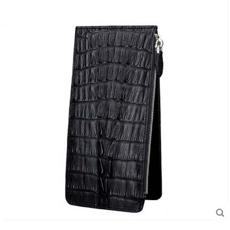 jialante new More screens crocodile Card bag real crocodile leather male hand grab men clutch bag large capacity crocodile bag jialante 2017 new lizard leather bag is made of simple small shell bag customized for 15 days