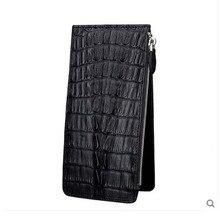 jialante new More screens crocodile Card bag real crocodile leather male hand grab men clutch bag large capacity crocodile bag