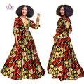 2017 африканские платья для женщин Осень three четверти рукав Dashiki африканских печати одежда плюс размер christmas dress 5xl WY939