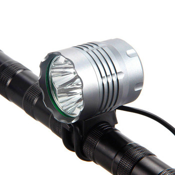 8.4V 4T6 Waterproof Mountain Bike Front Light 5000 Lumen 4x Cree XM L T6 led Cycling Helmet Headlamp Flashlight for Bicycle|Bicycle Light|Sports & Entertainment -