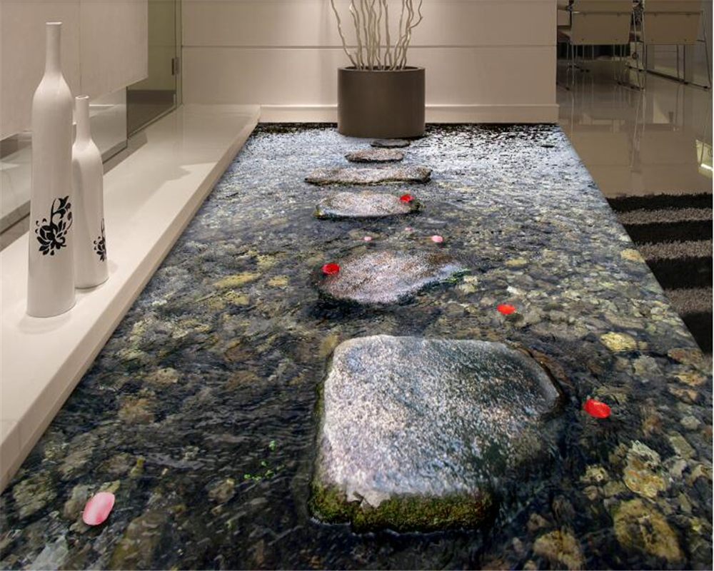 Tears Off Behang : Beibehang behang custom stone path stream bathroom floor tile
