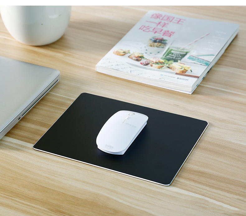 large-size-Aluminum-alloy-hard-mouse-pad-black