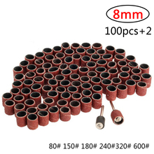 """Bandas de lijado Kit de lijado de tambor + 2 bandas de Mandrel 1/8 """"vástago herramientas rotativas brocas de uñas herramientas abrasivas dremel Accesorios"""