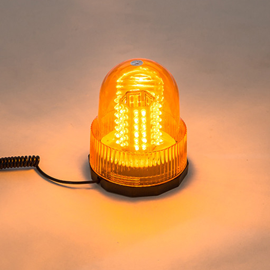 40 LED SPINNING FLASH AMBER ORANGE WARNING SIGNAL BEACON DIN POLE LIGHT LAMP TRUCK LORRY E-MARKED