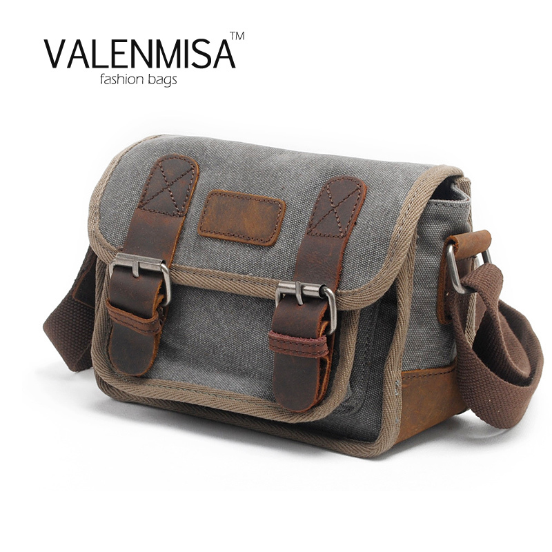 Small Men's Canvas Bag Vintage Messenger Bag Luxury Business Handbags Casual Travel Shoulder Bag Men Crossbody Bags Male Bolsa