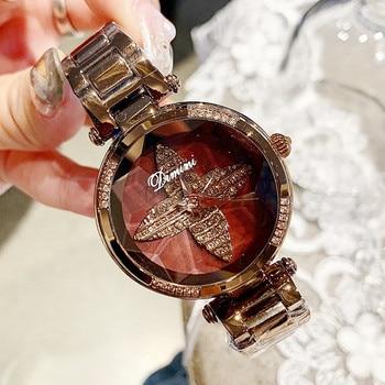 Top Brand Women Watches Women Luxury Rose Gold Bracelet Quartz Wrist Watch Fashion Women's Quartz Watch Ladies Watch New 2019