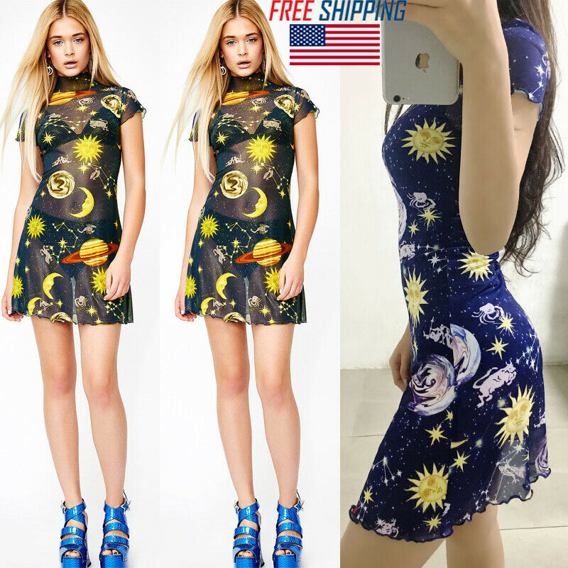 Dropship Brand Sexy Women Summer See Though Long Sleeve Boho Short Bodycon A Line Dress Home Dress Party Beachwear Vestidos in Dresses from Women 39 s Clothing