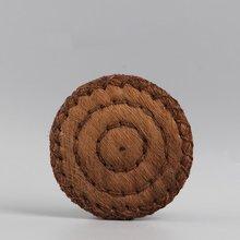 PINNY tapete de té Natural de seda marrón de fibra de palma, almohadillas para tazas de té Kung Fu, accesorios para la ceremonia del té, Estera resistente al calor Vintage