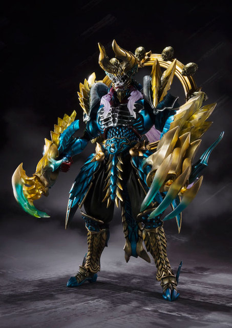 "Original BANDAI Tamashii Nations S.H.Figuarts (SHF) Tamashii MIX Action Figure - Jashin Kakusei Zinogre from ""Monster Hunter"" 3"