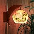 Luzes de parede lâmpadas de iluminação de cabeceira do vintage lâmpada de parede interior para casa de madeira cerâmica lâmpada 110 V/220 V E27 parede de cabeceira lâmpada de leitura