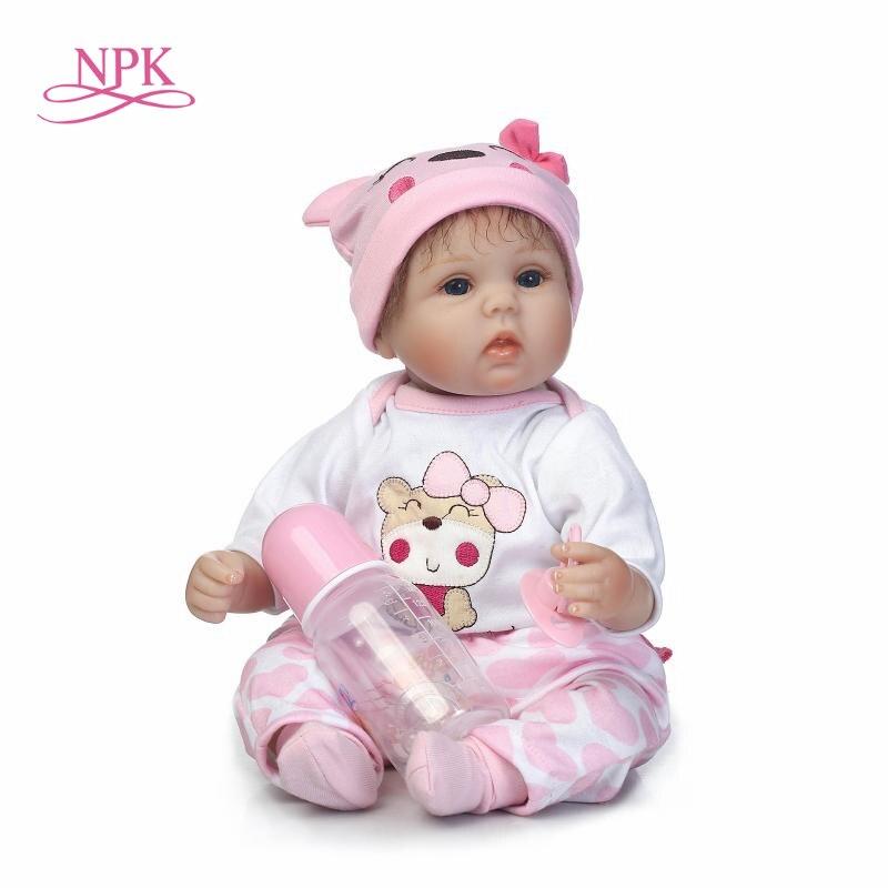 NPK Boneca Reborn 18inch Soft Silicone Vinyl Dolls really Soft Silicone Reborn Baby Doll Newborn Lifelike Bebe Reborn Dolls