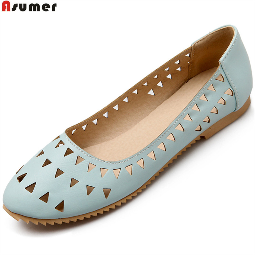 ASUMER black pink white fashion spring autumn ladies shoes round toe shallow casual women flat shoes big size 33-44 new spring women casual platform shoes lace up round toe black pink white casual shoes women comfortble ladies shoes size 33 43