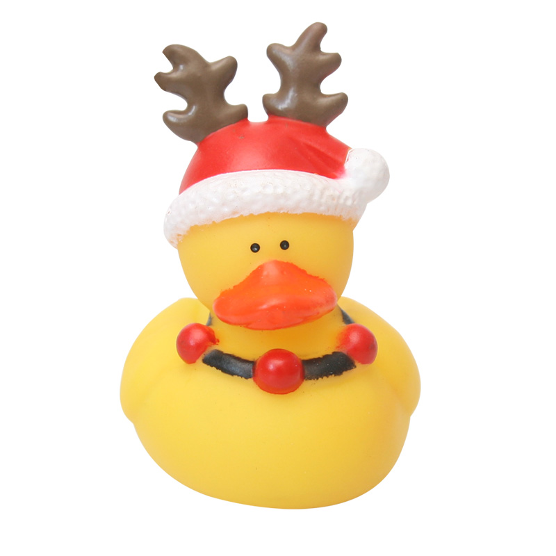 10PCS Bath Toy Animals Swimming Water Toys Mini Xmas Yellow Soft Floating Rubber Duck Squeeze Sound Funny Gift For Baby Kids