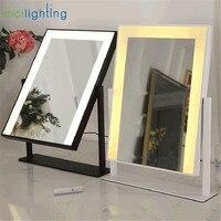 Светодиодная светодио дный Лампа яркости Регулируемая Косметическая зеркальная лампа косметическая черная белая прямоугольная спальня т