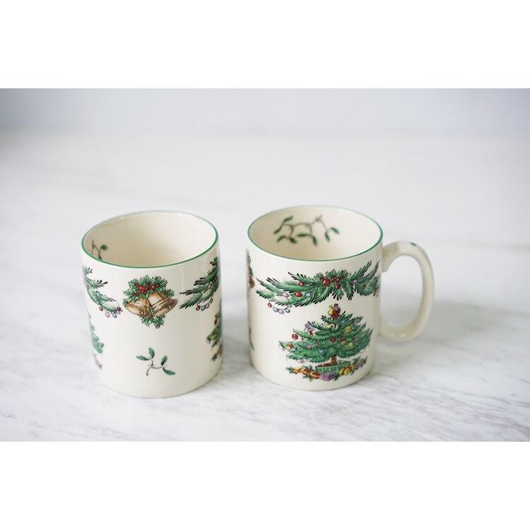 Christmas tree mug coffee mug breakfast milk mug New Year ...