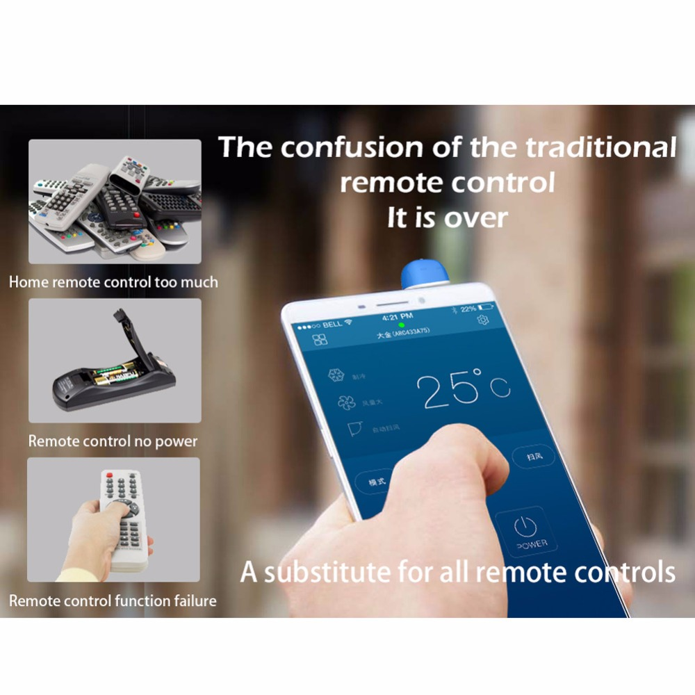 CHUNGHOPCHUNGHOP Universal IR Infrared Remote Control TV STB Air Conditioner For Android/ iPhone