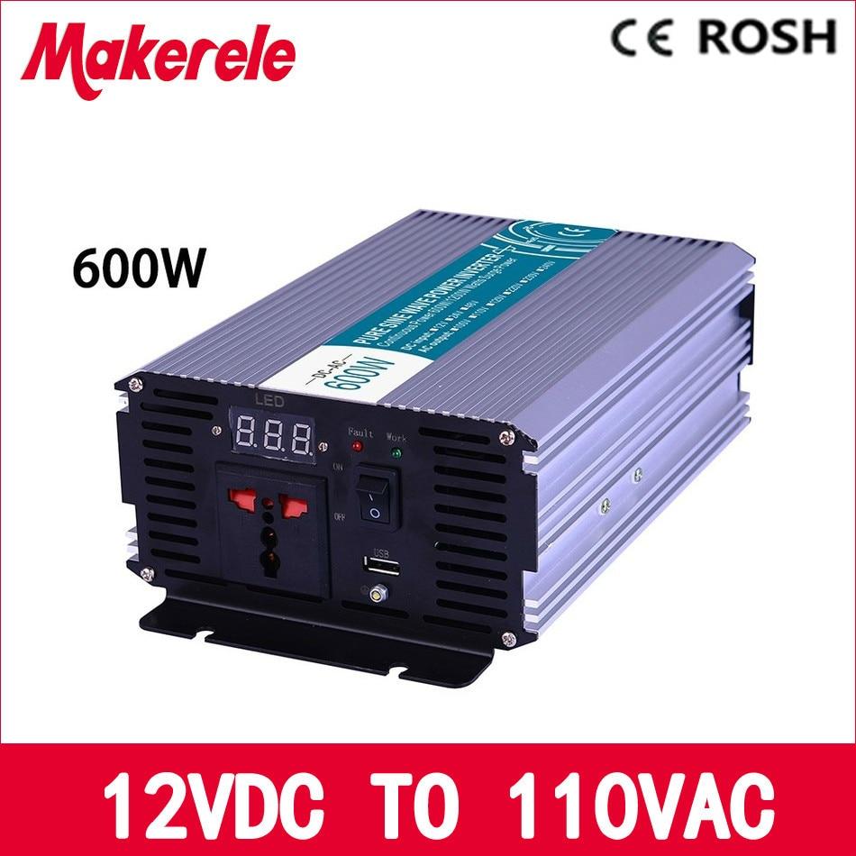 ФОТО MKP600-121 600w off grid pure sine wave power inverter 12v to 110v voltage converter,solar inverter pure sine wave