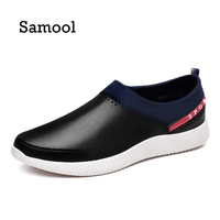 SAMOOL Men Loafers Flats Shoes Slip On Comfortable High Quality PU Leather 2017 New Fashion Autumn