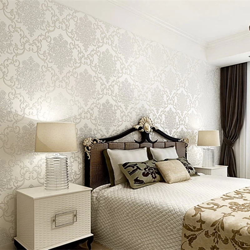 Buy hot sale home decoration pure white for Bedroom wallpaper sale