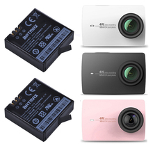 2Pcs 3.85v 1400mAH Xiaomi YI 4K Batteries  AZ16-1 battery for Original Xiaomi Yi 4K Action Camera Rechargeable Battery