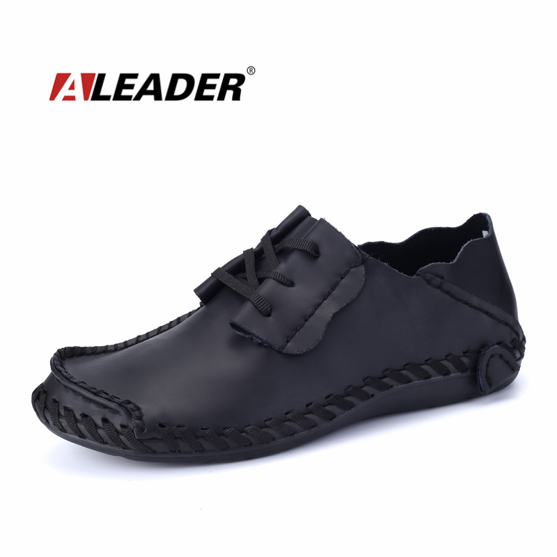 Genuine Leather Shoes Men 2015 Spring Autumn Casual Mens Leather Sneakers Loafers Designer Driving Shoes Fashion