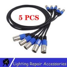 Câble déclairage Led Par 3 broches DMX, 1M/2M/3M/4M/5M/6M/7M/8M/9M/10, 5 pcs/lot M DMX ligne de Signal, utilisé pour léclairage de scène