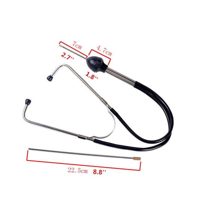 Franchise mécanique cylindre stéthoscope voiture bloc moteur Diagnostic automobile outils auditifs Anti-choc Durable chromé-acier 4