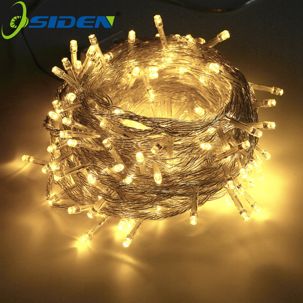 OSIDEN Christmas String Light  AC110V 220V Wedding/Party Decoration Light Garland Outdoor Waterproof Led Lamp 9 Color 500LED 50M