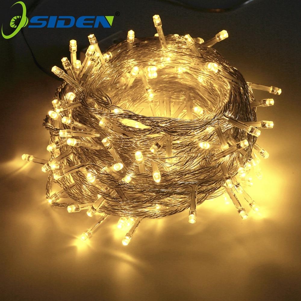 OSIDEN Christmas String Light  AC110V 220V Wedding/Party Decoration Light Garland Outdoor Waterproof Led Lamp 9 Color 500LED 50M