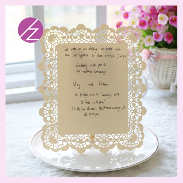 12 Pcs Paper Craft Wedding Supplies Flat Free Printable Laser Cut Lace Invitations Card