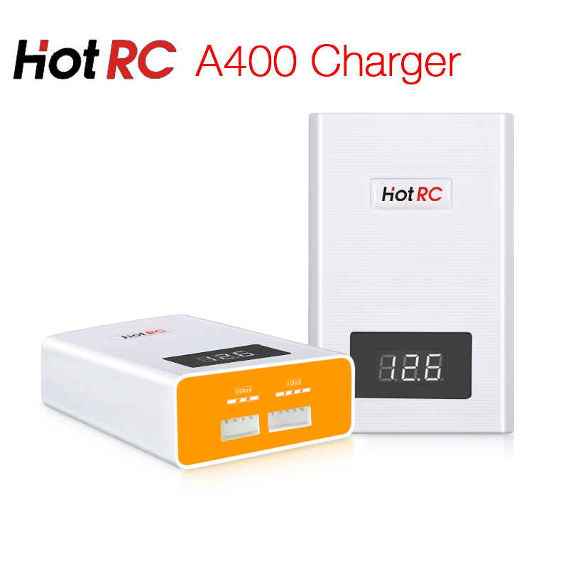 Hotrc A400 Digital 3S 4S 3000mah RC Lipo Battery Balance Charger with LED Screen Fast Charge Discharger for RC Quadcopter cm 052535 3 7v 400 mah для видеорегистратора купить