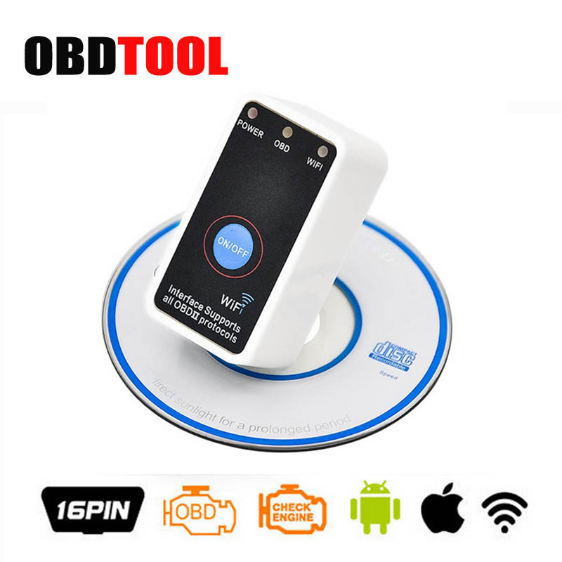 V1.5 Super Mini ELM327 WiFi With Switch Work for iPhone OBD2 OBD Can Code Reader Tool Auto Switch Tester for IOS/ Android JC10