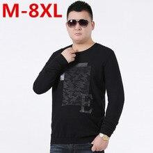 Big Size 8XL 7XL 6XL 5XL O-Neck Sweater Brand Men Hip Hop Pullover Men Sweater Knitting Slim Fit Sweater Men Clothing Plus Size