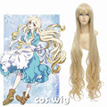 ECVTOP 500g 42 inch anime cosplay wigs Kagerou Project Cosplay Marry Long Curly Blonde Wig for girl