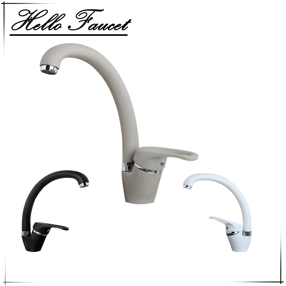 Hand Painting Water Mixer 360 Swivel degree rotation Kitchen Faucet Single Handle for Kitchen Basin Sink