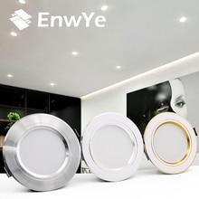 EnwYe, светодиодный потолочный светильник, теплый белый/холодный белый, 5 Вт, 9 Вт, 12 Вт, 15 Вт, 18 Вт, светодиодный потолочный светильник, AC 220 В, 230 В, 240 в, тип, потолочный светильник