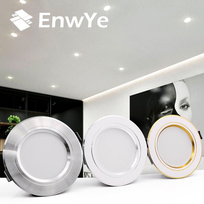 6 adet EnwYe LED Downlight tavan sıcak beyaz/soğuk beyaz 5W 9W 12W 15W 18W led tavan lambası AC 220V 230V 240V yeni tip Downlight
