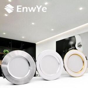 EnwYe LED النازل السقف الأبيض الدافئ/الباردة الأبيض 5 W 9 W 12 W 15 W 18 W led السقف مصباح AC 220 V 230 V 240 V جديد نوع النازل