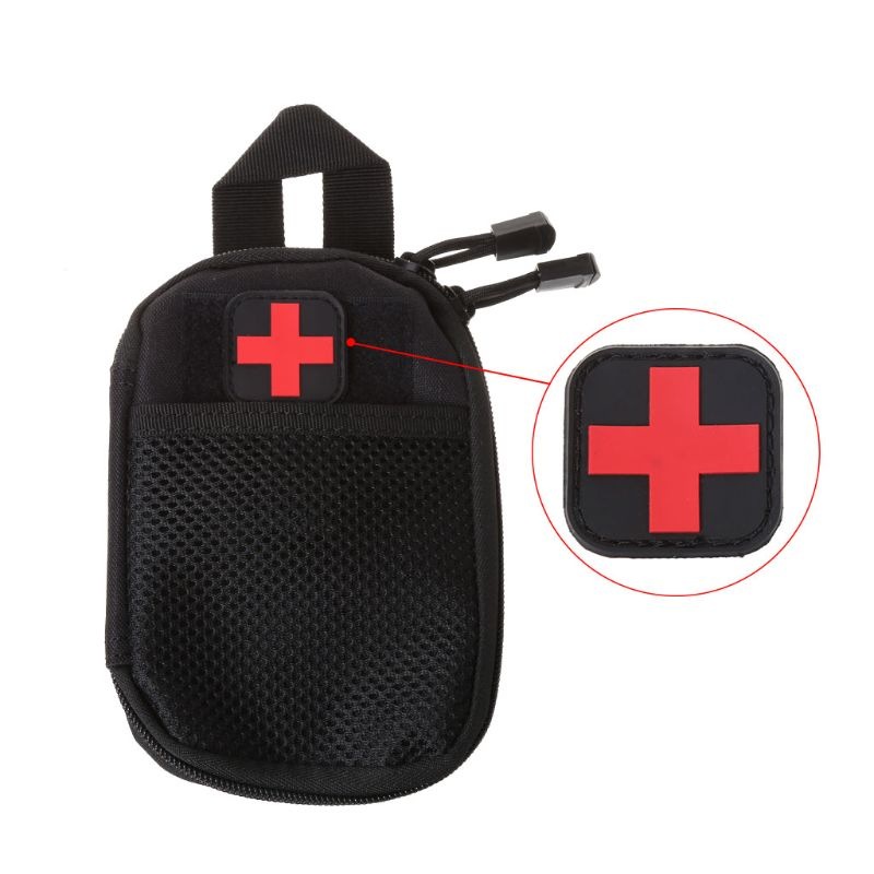 Tactical Armband First Aid Outdoor Hunting Medical Personnel Badge Brassard Red Cross Magic Sticker PVC Patch Morale Accessories