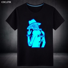 100%Cotton Mens Summer Anime One Piece T shirt Luffy/Zoro Fluorescent Male Fitness Casual Short Tee Shirt Tops