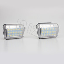 MZORANGE 2pcs Xenon White LED License Plate Lights For Mazda CX5 CX7 6 Mazda speed 6(China)