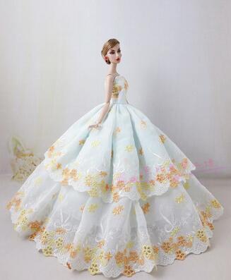 case for barbie wedding gown vestidos dress for barbie doll clothes lot princess dresses wedding for barbie dolls accessories