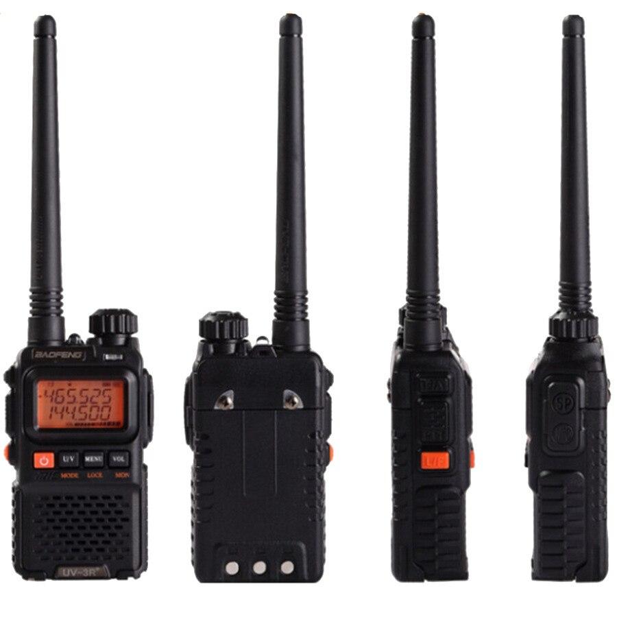 Image 3 - 2 PCS Baofeng UV 3R Plus Mini Walkie Talkie CB Ham VHF UHF Radio Station Transceiver Boafeng Amador Communicator Woki Toki PTT-in Walkie Talkie from Cellphones & Telecommunications