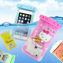 PVC Diving Waterproof Mobile Phone  Bags with Strap Dry Underwater Pouch Case Cover for  iPhone 6  Swimming Case New