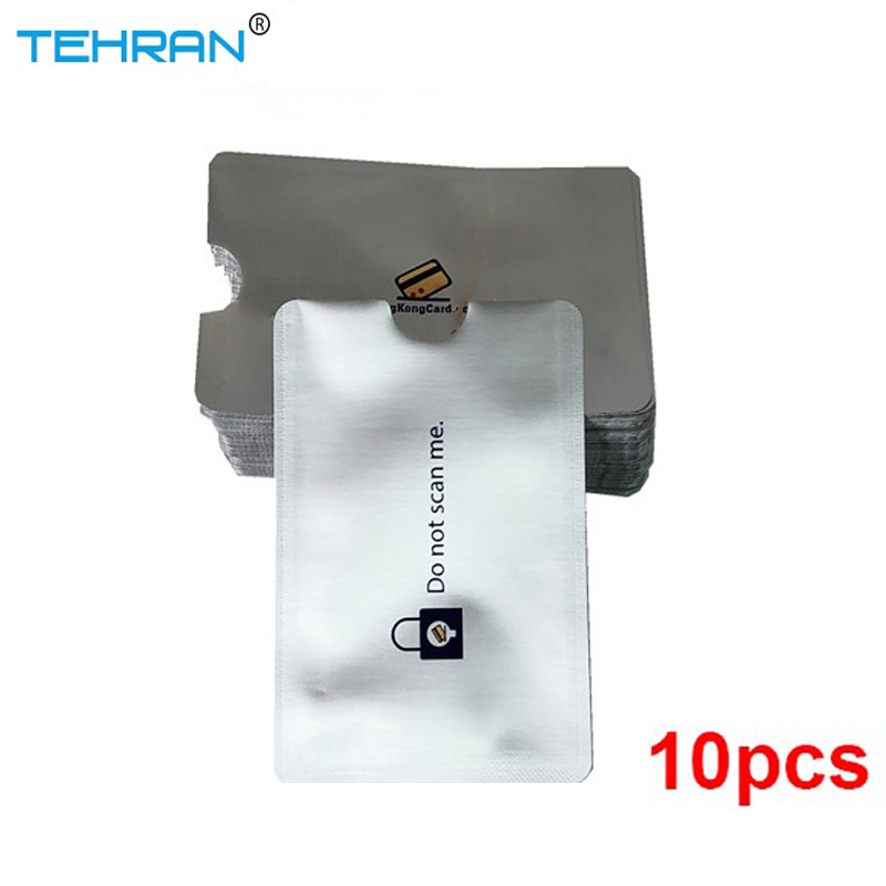 10 Pack RFID The New Silver Blocking Sleeves Anti Theft RFID Card Protector RFID Blocking Sleeve Identity Anti-Scan Card Sleeve