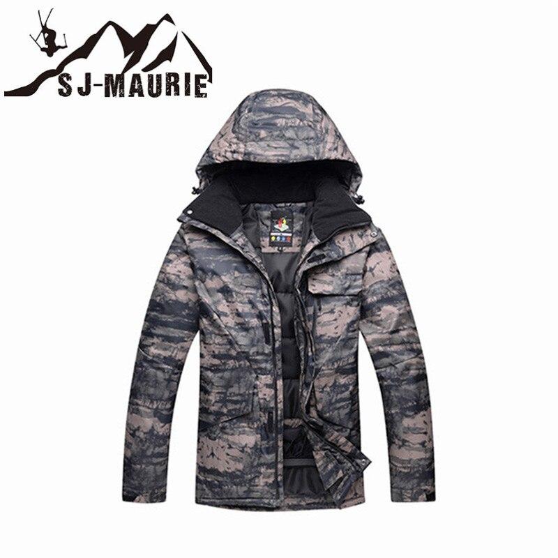 Veste de Ski homme veste de Snowboard Camouflage combinaison de Ski hiver imperméable coupe-vent veste de chasse d'hiver